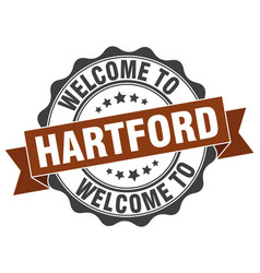 hartford round ribbon seal vector image