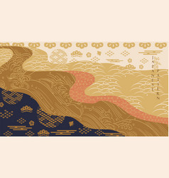 japanese pattern with asian traditional vector image