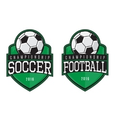 Labels of soccer and football vector