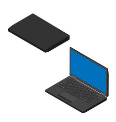 laptop computer collection vector image