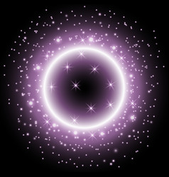 light ring with stardust purple color vector image