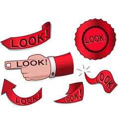 look design elements vector image vector image