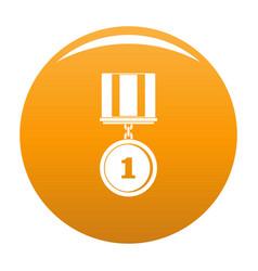Medal icon orange vector