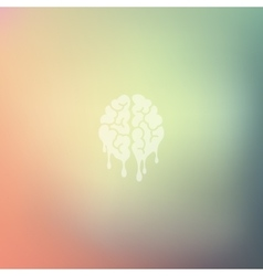 Melting icon on blurred background vector