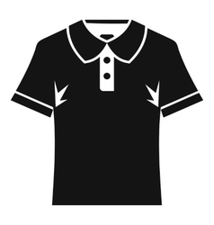 Men polo shirt icon simple style vector image