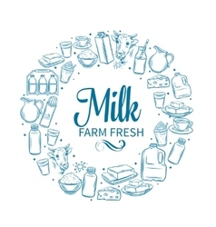 Milk product banner vector image