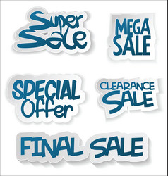 modern sale sticker and tag collection vector image