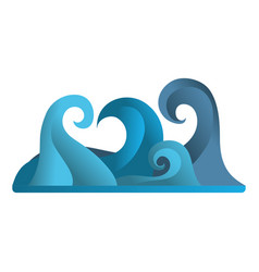 Nature waves tropical ocean style vector
