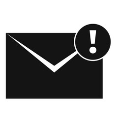New mail letter icon simple style vector