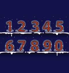 number winter classic on snow vector image