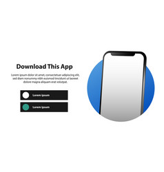 Page banner advertising for downloading app vector