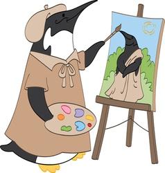 Penguin Painter vector