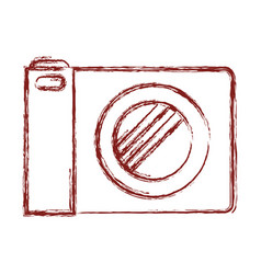 photo camera icon in dark red blurred silhouette vector image