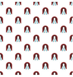 Rails pattern cartoon style vector