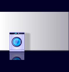 Realistic 3d minimal composition washing mashine vector