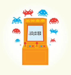 Retro arcade machine isolated vector