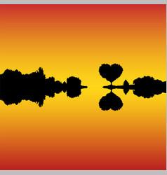 romantic landscape at sunset vector image