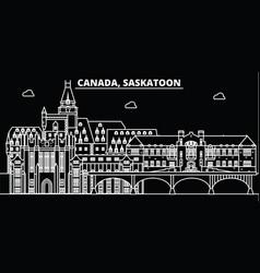 Saskatoon silhouette skyline canada - saskatoon vector