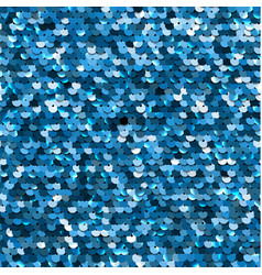 seamless blue sequined texture vector image