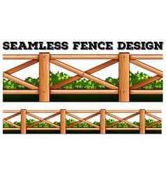 Seamless fence design along the bush vector