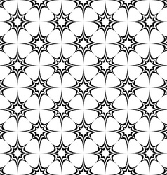 Seamless monochrome pattern from stars vector image
