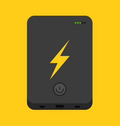 simple power bank vector image