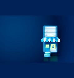 smartphone shop application web market banner vector image