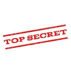 Top Secret Watermark Stamp vector image