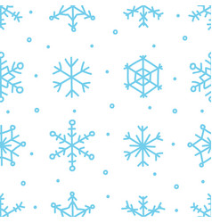 Various blue snowflake seamless pattern winter vector
