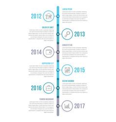 vertical timeline vector image