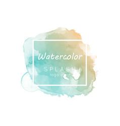 watercolor splash logo idea vector image