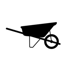 wheelbarrow cart vector image
