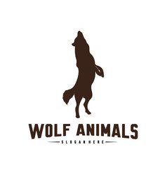 wolf abstract logo design wolf logo template vector image