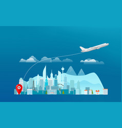 World travelling concept travel banner with vector