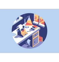 Writing space flat vector image