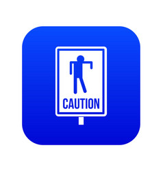 zombie road sign icon digital blue vector image