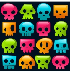 candy skulls vector image vector image