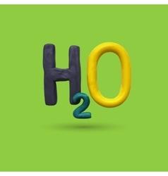 Formula of water H2O vector image vector image