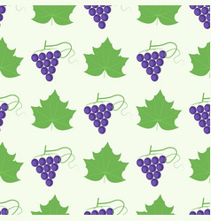 grape berry leaf pattern 4by4 vector image vector image