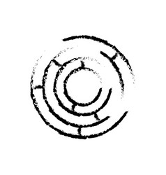 labyrinth game shape exit search sketch vector image