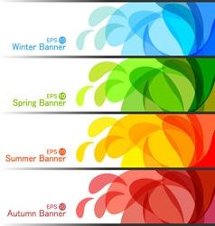 Set of Season Banners vector image vector image