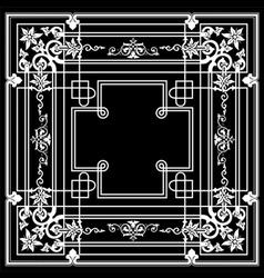 Black Ornate Frame Quad vector image vector image