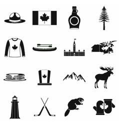 Canada icons black vector