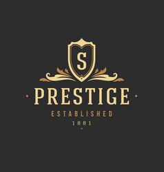 luxury monogram logo template object for vector image