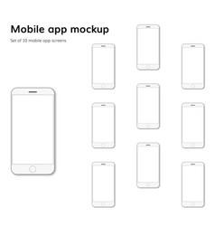 mobile application screens mockup vector image