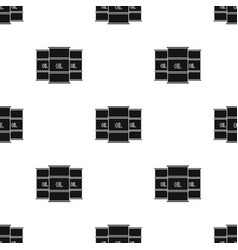 oil barrel icon in black style isolated on white vector image