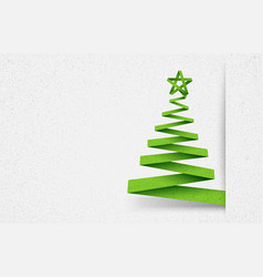 Paper tree green vector image