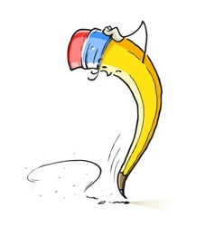 question cartoon lead pencil vector image vector image