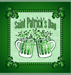 st patricks day greeting card background vector image vector image