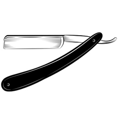 Straight razor on a white background vector